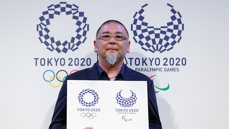 2020年東京五輪のエンブレムをデザインした野老朝雄氏。「これからいろいろなつながりが生まれるといい」と話した