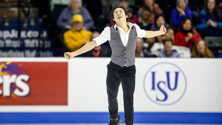 Nathan Chen (USA) performing in the men's short program during 2018 Skate America, Everett, Washington. (Joe Nicholson-USA TODAY Sports)