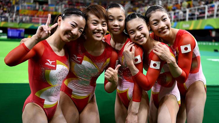 リオ五輪、体操女子団体総合に出場した選手たち