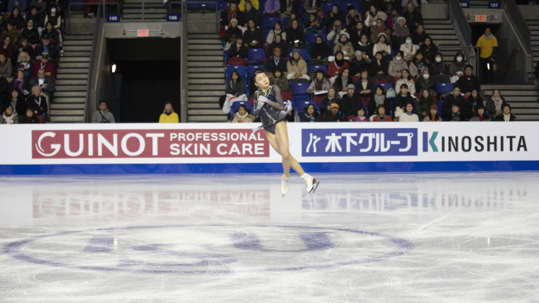 Rika Kihira skates in the ladies' free skate at the 2018 ISU Grand Prix Final.