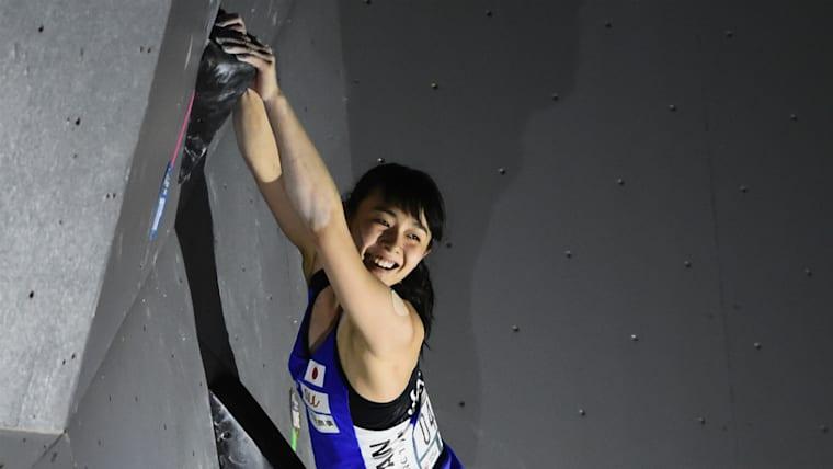 2017年には14歳9カ月でボルダリング・ジャパンカップを制覇。史上最年少女王に輝いた
