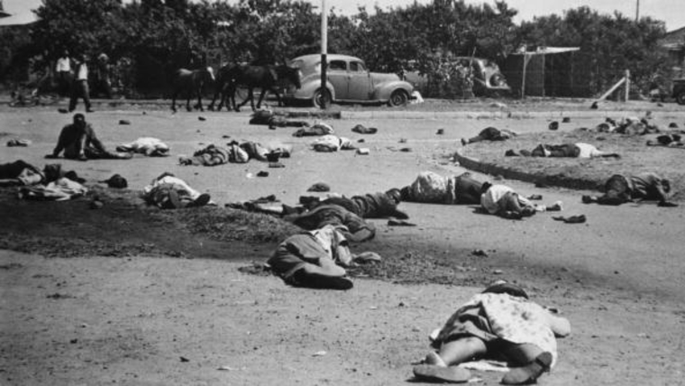 Aftermath of shooting at Sharpeville
