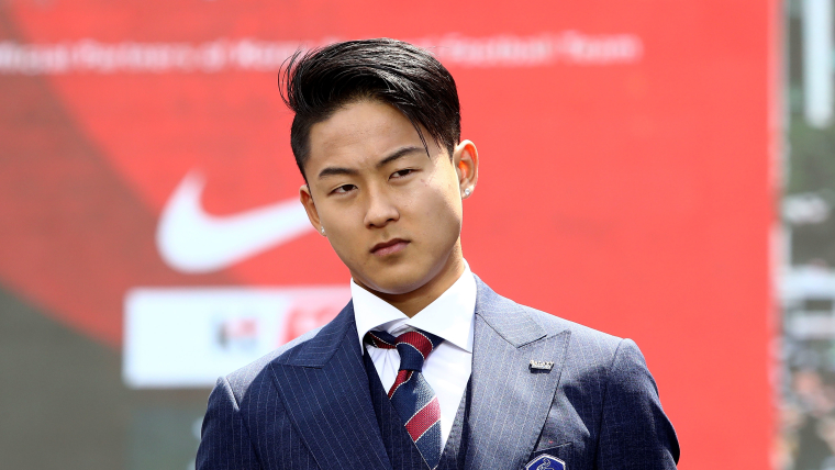Lee Seung-Woo at the sending off ceremony for the South Korean team before the FIFA World Cup Russia 2018 at Seoul City Hall.
