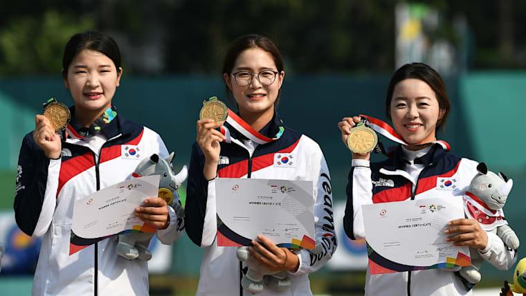 韓国はアーチェリー大国。2018年のアジア競技大会では4つの金メダル、3つの銀メダル、1つの銅メダルを手にした