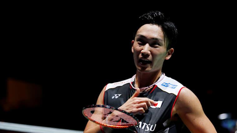 2019 BWF Badminton World Champion Japan's Kento Momota