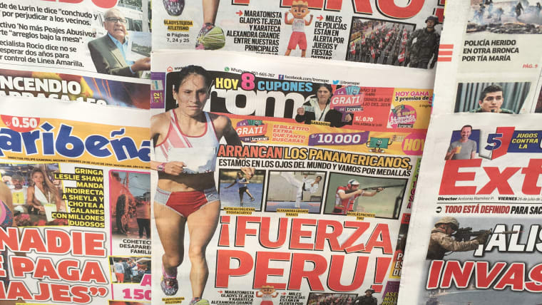 'Let's go Peru!' - The 2019 Pan American Games are dominating the news stands in the Peruvian capital. Marathon runner Gladys Tejeda is one of Peru's big medal hopes in Lima.