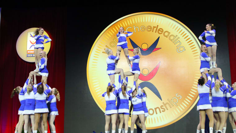 Finland take All Girl Premier victory at the 2018 World Cheerleading Championships (Photo courtesy of Action Moments USA)