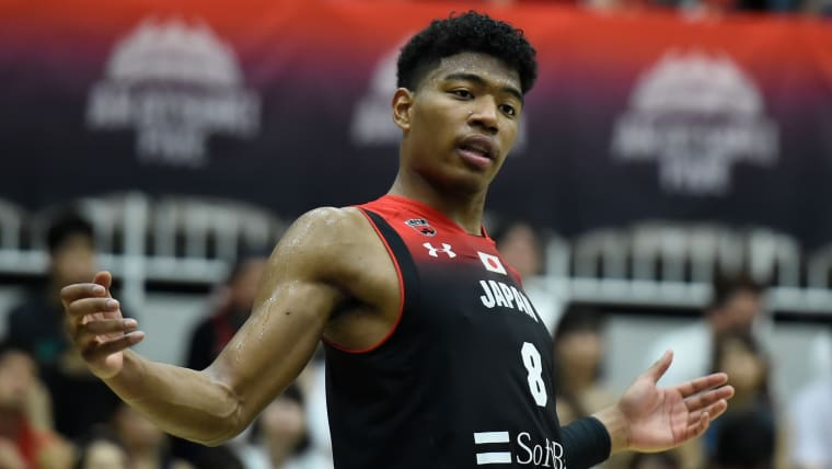 Rui Hachimura during the friendly win over New Zealand in Chiba on 12th August 2019