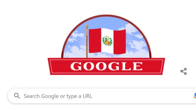 Google marks Per's Independence Day