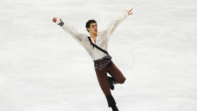 Javier Fernandez in the free skate on his Olympic debut at Vancouver 2010