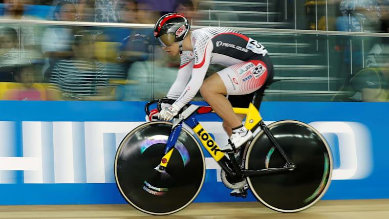 2018年世界選手権手権で、日本人として25年ぶりにケイリンの表彰台に上がった河端朋之