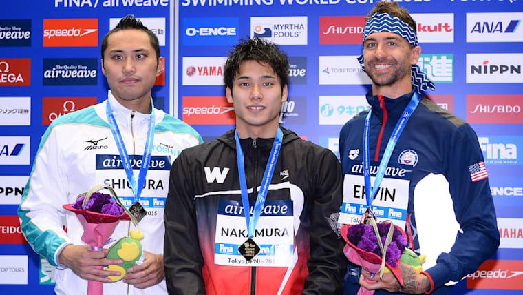 塩浦慎理(左)はジュニア時代からの最大のライバル。度々表彰台をともにし、切磋琢磨を続けている