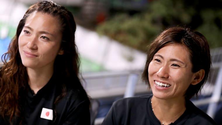 さくらジャパンを牽引する永井友理選手(右)、永井葉月選手