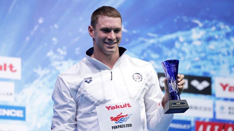 Ryan Murphy received the MVP award at the Pan Pacs in Tokyo