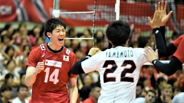 この日最多得点の石川祐希は、サーブでもチーム最多得点を挙げた(写真は国際親善試合カナダ戦)