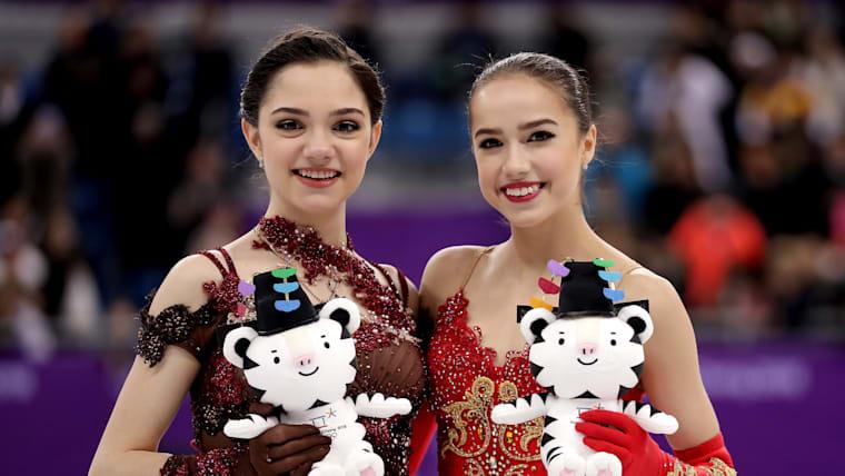 Evgenia Medvedeva and Alina Zagitova at PyeongChang 2018