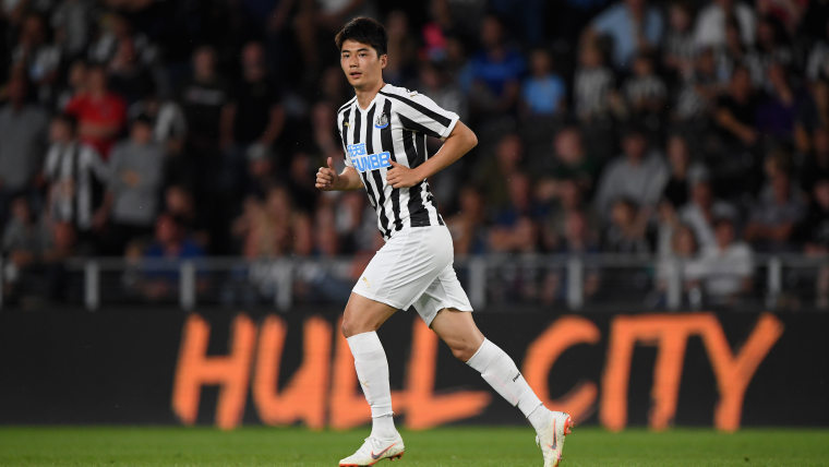 Ki Sung-Yeung playing for Newcastle United
