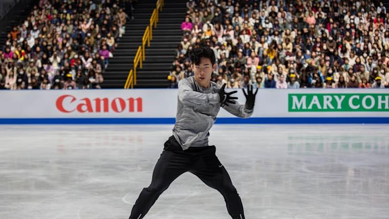 Current men's leader Nathan Chen