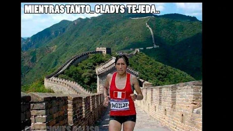 Meanwhile Gladys Tejeda...