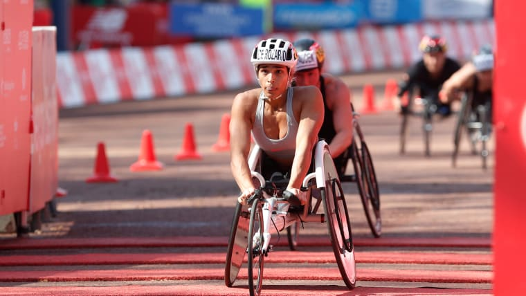 Madison de Rozario beats Tatyana McFadden to take the 2018 London Marathon wheelchair elite women's race