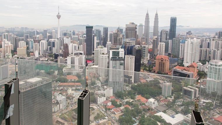 Malaysia's capital Kuala Lumpur viewed from a hotel balcony