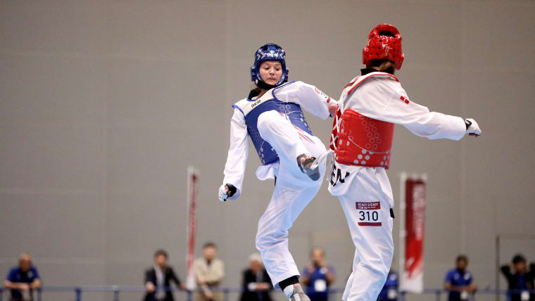 Amy Truesdale during the final round in Makahuri Messe Hall