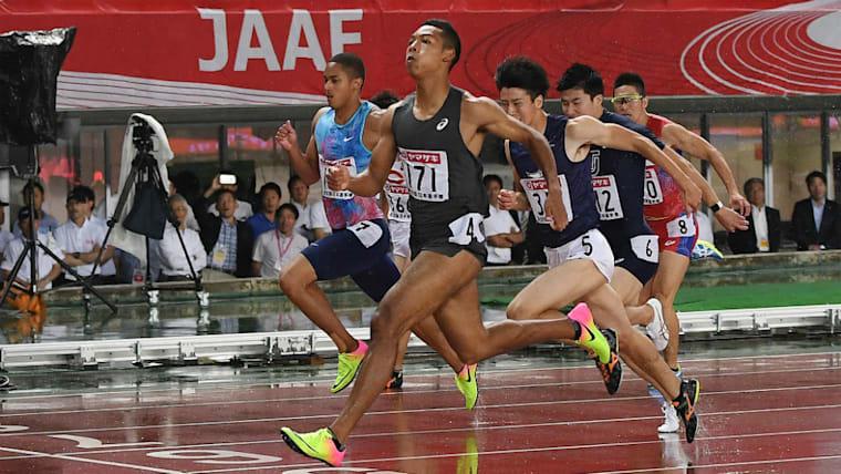 2017年、「史上最高レベル」と称された日本陸上競技選手権大会で優勝。山縣、桐生、ケンブリッジ、多田とのレースを制した