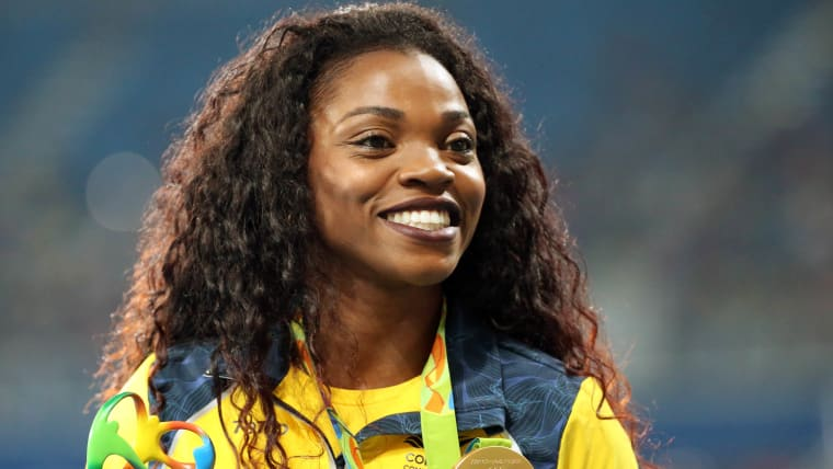 Caterine Ibarguen is the only Colombian track and field athlete with two Olympic medals