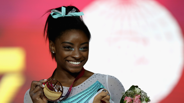 Simone Biles now has a record 14 World Artistic Gymnastics Championships gold medals
