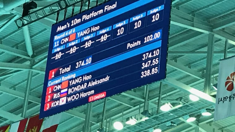 Perfect 10s for Yang Hao!