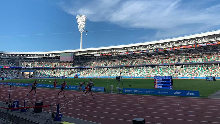 Dinamo Stadium in Minsk, Belarus, during the 2019 European Games