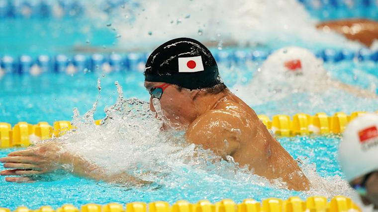 2018年アジア大会では50、100、200mで平泳ぎ3冠を達成した