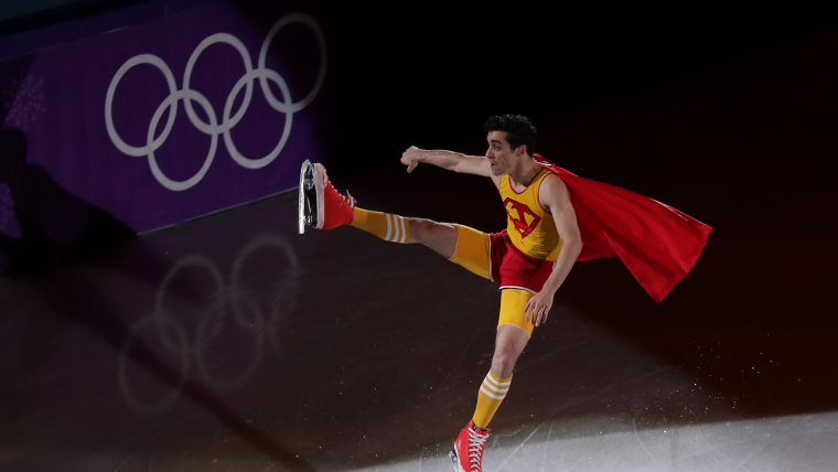 Javier Fernandez of Spain performs during the Figure Skating Gala Exhibition (Photo by Richard Heathcote/Getty Images)