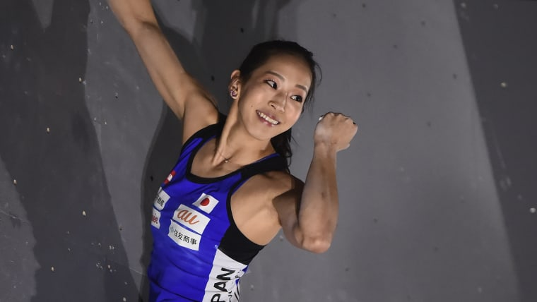 Akiyo Noguchi is a four-time bouldering world champion