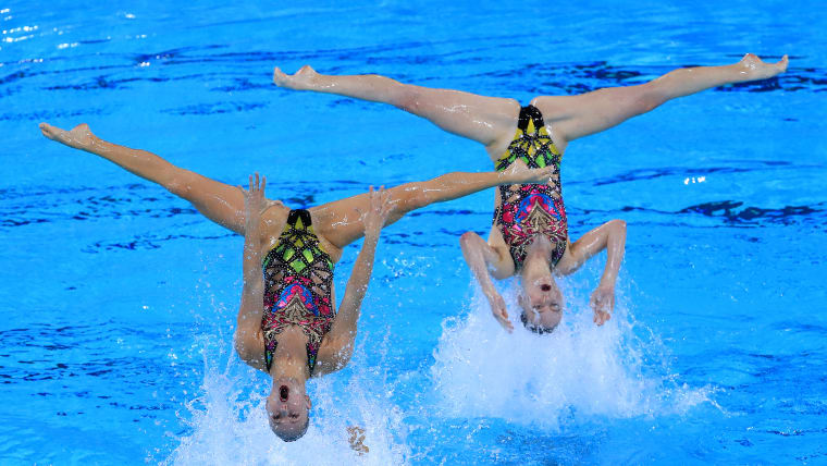 Team Canada's technical routine left them in pole position ahead of Wednesday's final at Lima 2019 . (Photo by Buda Mendes/Getty Images)