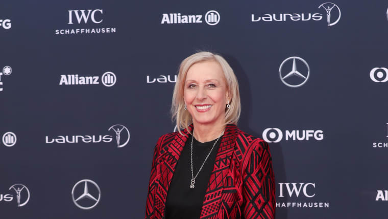 Martina Navratilova at awards ceremony