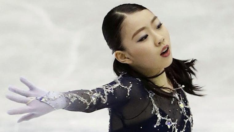 Rika Kihira of Japan performs during the ladies free skating at ISU Figure Skating NHK Trophy. Credit: Kyodo/via Reuters.