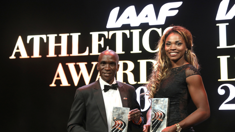 Eliud Kipchoge and Caterine Ibarguen named male and female World Athletes of the Year