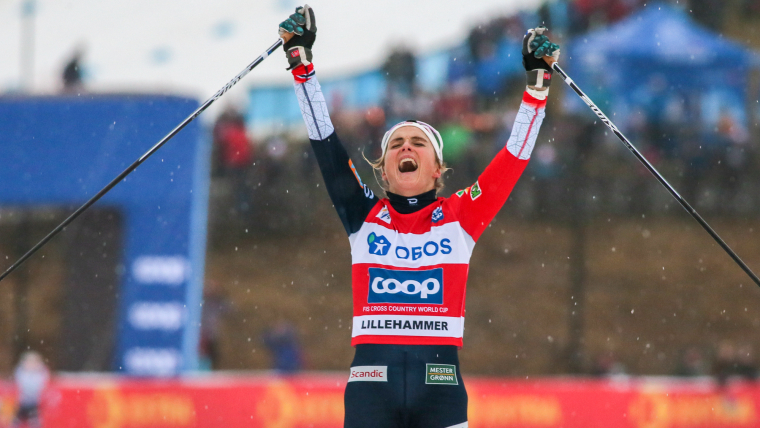 Therese Johaug takes first place in the World Cup 10K classic pursuit in Lillehammer on December 2.