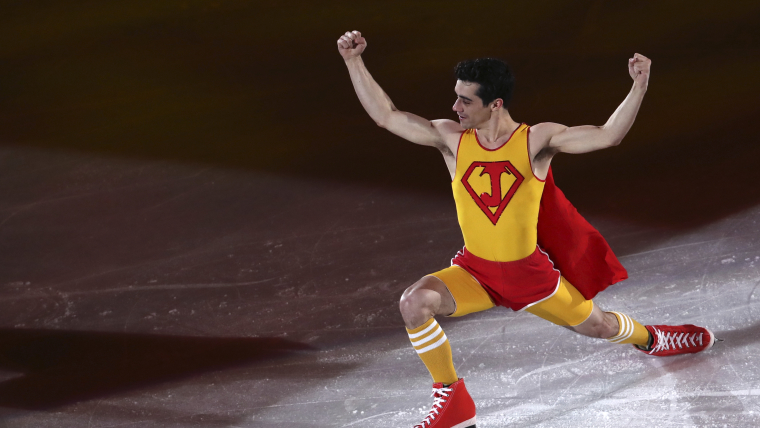 Javier Fernandez performs at the PyeongChang 2018 figure skating gala