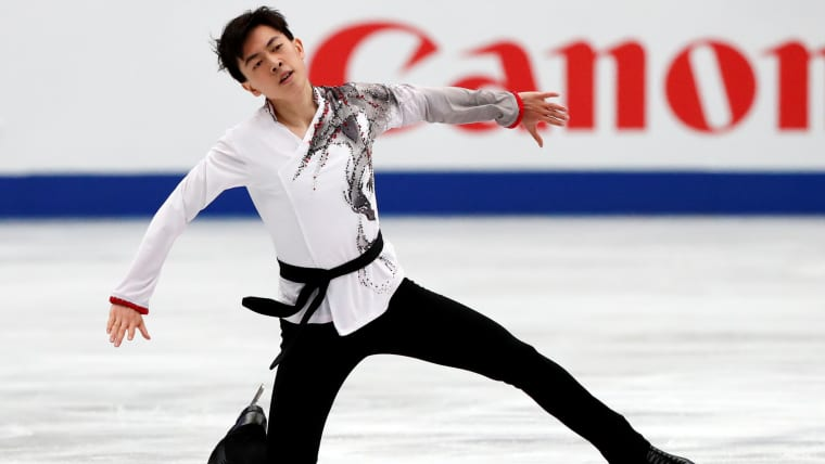 Vincent Zhou's personal best free skate saw him take second in the World Team Trophy