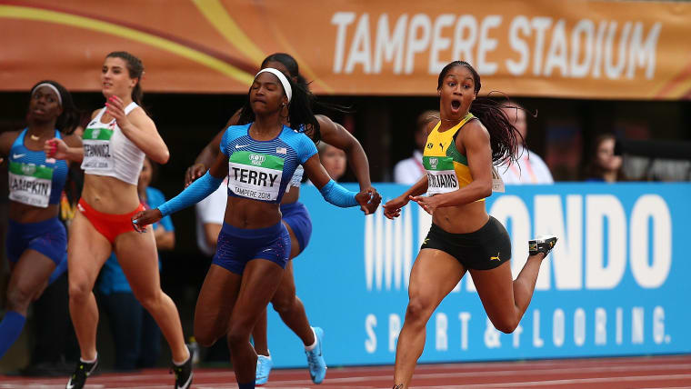 Coached by Ato Boldon: Briana Williams of Jamaica wins gold in the women's 100m at the IAAF World U20 Championships