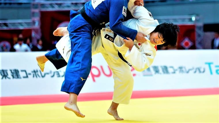 女子78キロ級に出場した濵田尚里が、敗者復活戦から銅メダルを獲得(写真はグランドスラム大阪大会)