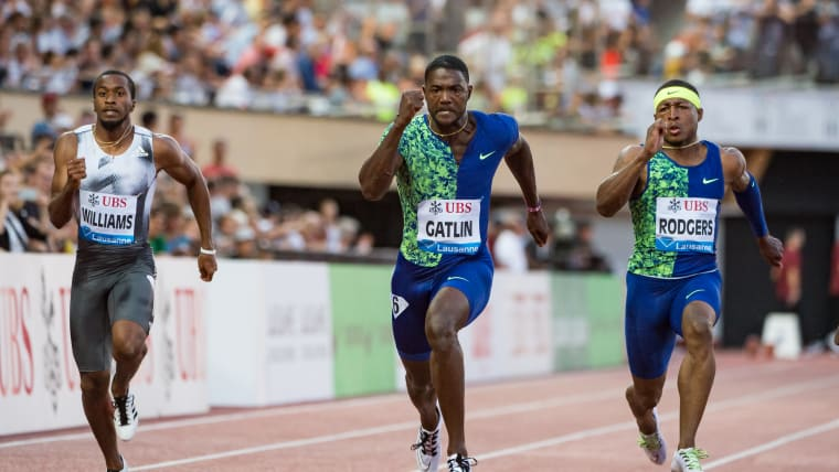Justin Gatlin wins the Lausanne Diamond League 100m