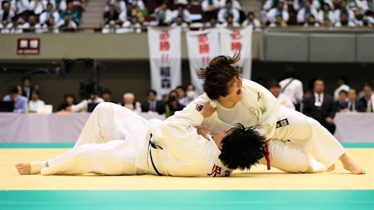 78キロ超級の富田若春が優勝し、日本女子勢は3日連続で金メダルを獲得した(写真は2019年全日本女子柔道選手権)