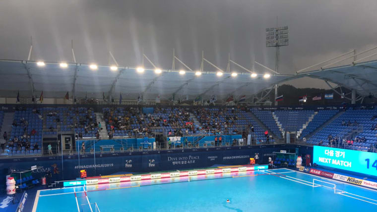 Stormy skies at the water polo finals