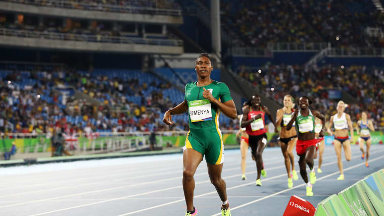 Caster Semenya in action at the Rio 2016 Olympics