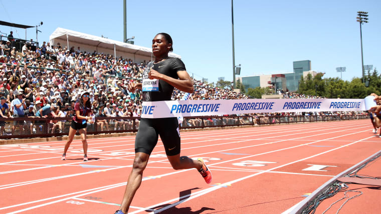 Caster Semenya wins the 800m at the 2019 Prefontaine Classic in Stanford