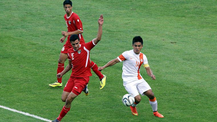 Sunil Chettri scored India's goal in their narrow loss to Oman
