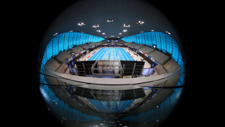General view inside the Aquatics Centre on Day Four of the London 2019 World Para-swimming Allianz Championships at Aquatics Centre on September 12, 2019 in London, England. (Photo by Catherine Ivill/Getty Images)